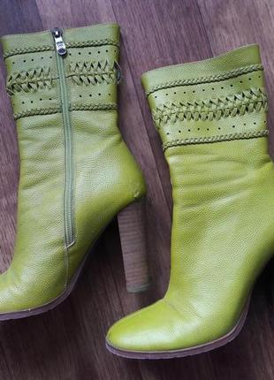 Осенние ботинки натур.кожа