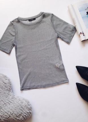 Невероятная футболка - тюль , прозрачная серебряная от zara