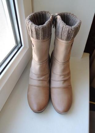 Демисезонные кожаные ботинки сапоги caprice р.36 (23,5 см) евро 4