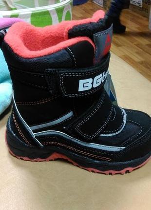 Зимние теплые сапожки 22-27 р. b&g на мальчика, биджи, би-джи, сапоги, ботинки, термо