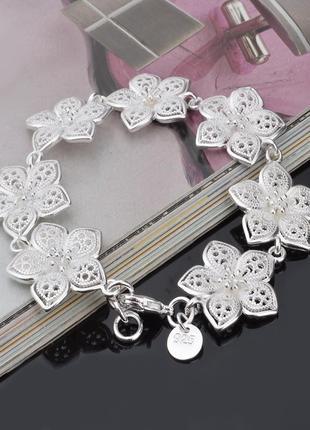 Браслетик ,очень нежный, красивый браслет!!! стерлинговое серебро 925 пробы