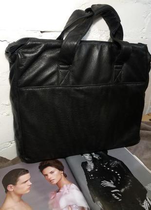 Стильная сумка для документов из натуральной кожи