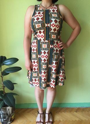 Летнее платье h&m сарафан с узорами