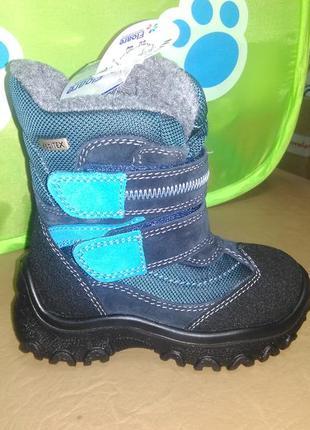 Зимние мембранные сапожки 24 р kapika на мальчика, замш, сапоги, капика, ботинки