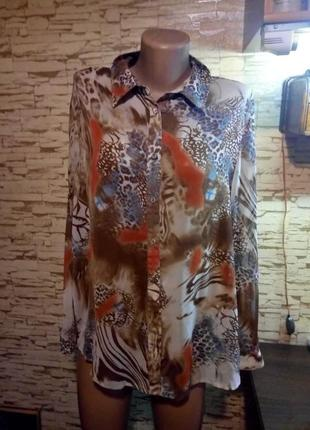 Шикарная блуза с актуальным  принтом