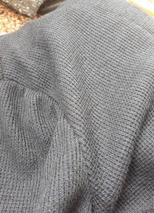 Стильный синий  вафельный кардиган от zara кофта джемпер4 фото