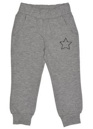 Новые светло-серые брюки-джогеры для девочки, original marines, 368322