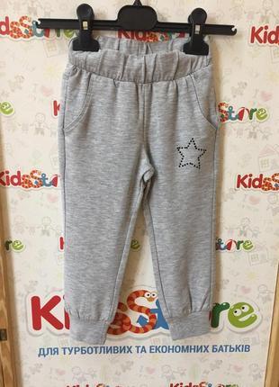 Новые светло-серые брюки-джогеры для девочки, original marines, 368323