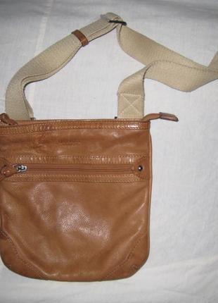 Фирменная кожаная сумка osprey, англия, оригинал!!!