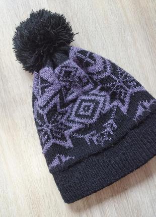 Тепла шапка з бумбоном на 52-59 розмір голови марки clillin