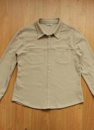 Рубашка marks & spencer флиска флис флисовая кофта на кнопках теплая свитер р. 40
