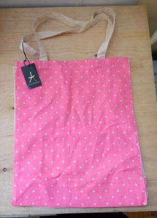 Розово-бежевая текстильная сумка шоппер от atmosphere primark