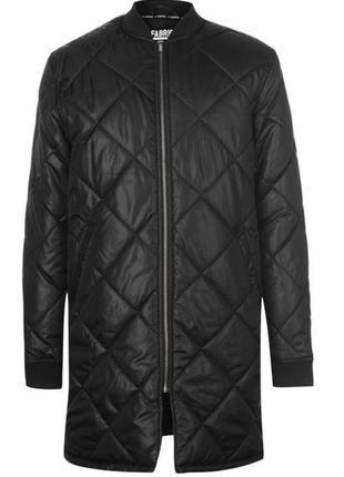 Мужская куртка длинный бомбер пуховик плащ пальто демисезон fabric