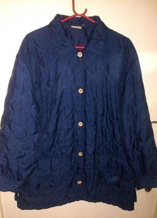 Стильная,стёганная,демисезонная куртка,damart,больш.18-20разм. и 90%одежды батал