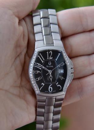 Бриллианты! женские часы с бриллиантами bulova accutron брюлики діаманти