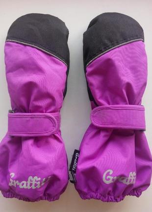 Водонепроницаемые варежки мембранные термо рукавицы перчатки унисекс