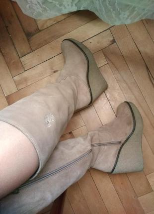 Сапоги / чоботи демісезонні на платформі #речінадобро