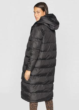 Длинное зимнее пальто stradivarius