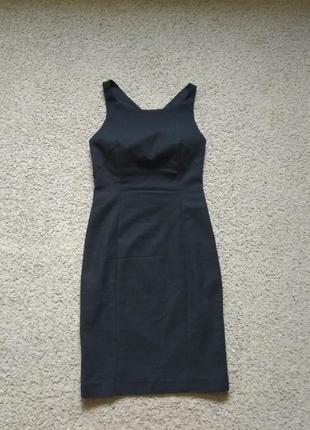 Черное платье zara с открытой спиной размер xs как новое