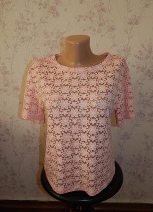 New look футболка укороченная стильная модная р8