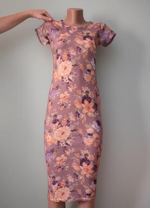 Большой выбор платьев - красивое нежное вискозное платье миди