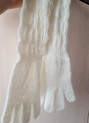 Тепленькие длинные перчатки