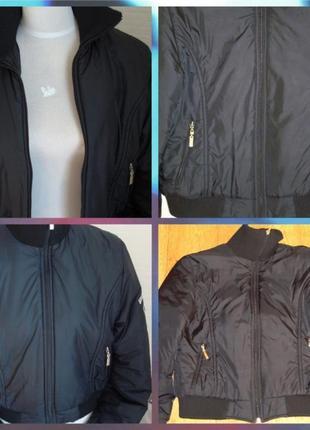 🍂🍂стильная молодежная черная куртка-бомбер с высоким воротником d&g 🍂🍂🍂