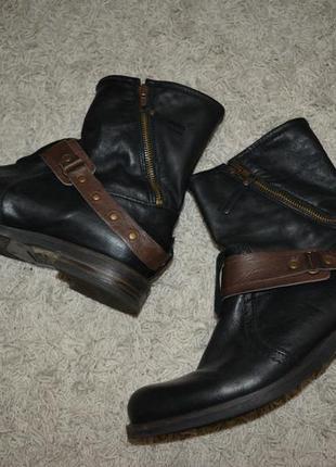 Кожаные ботинки демисезонные, 38 размер