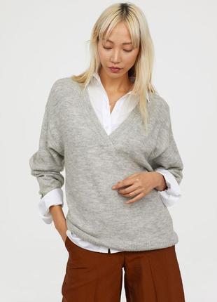 Новый свободный/оверсайз вязаный свитер пуловер h&m, размеры xs-m