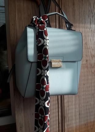 Рюкзак голубого цвета zara