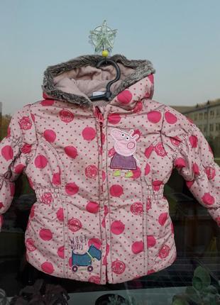 Куртка со свинкой пеппой на девочку 3-4года