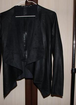 Zara пиджак жакет из кожзама