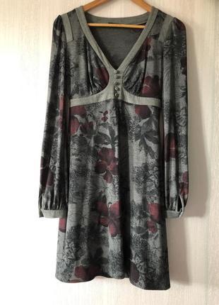Серое платье bgn