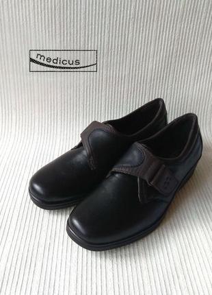 3419 туфлі medicus 37- 37,5 шкіра нові сток