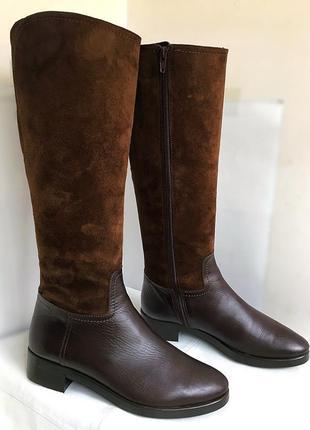 Сапоги кожаные осенне/зимние, vera gomma, 38 размер.