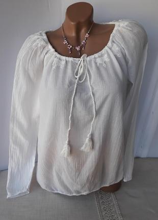 Белая блуза вышиванка