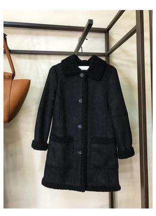 Дубленка авиатор пальто от zara