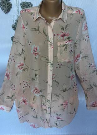 Рубашка шифон new look