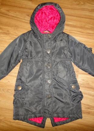 Утепленная демисезонная куртка парка нема на девочку р.98-104 (2-4 года)2 фото