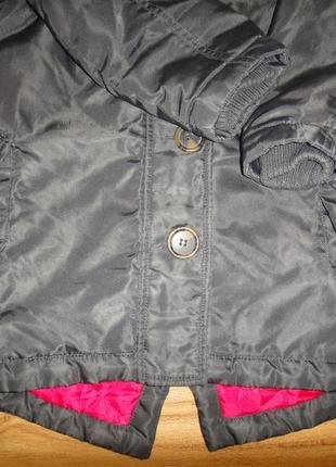 Утепленная демисезонная куртка парка нема на девочку р.98-104 (2-4 года)3 фото