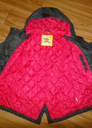 Утепленная демисезонная куртка парка нема на девочку р.98-104 (2-4 года)5 фото