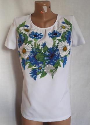 Тотальная распродажа товара женская вышиванка ручная работа из бисера 42-46 размер