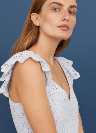 H&m платье с вышивкой, s, l