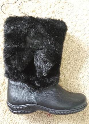 Зимние сапоги, натуральная кожа, мех!