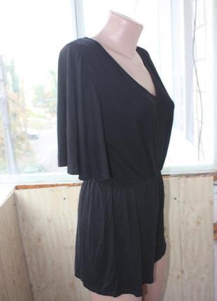 Ромпер комбинезон с шортами чёрный2