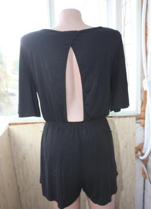 Ромпер комбинезон с шортами чёрный3
