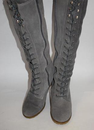 Зимние сапоги-ботфорты gortz shoes