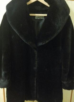 Шуба полушубок пальто искусственный мех