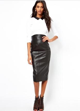 fe983fba72c Фирменная стильная качественная натуральная кожаная юбка карандаш. f f