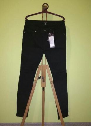 Черные стрейчевые брюки скинни amisu